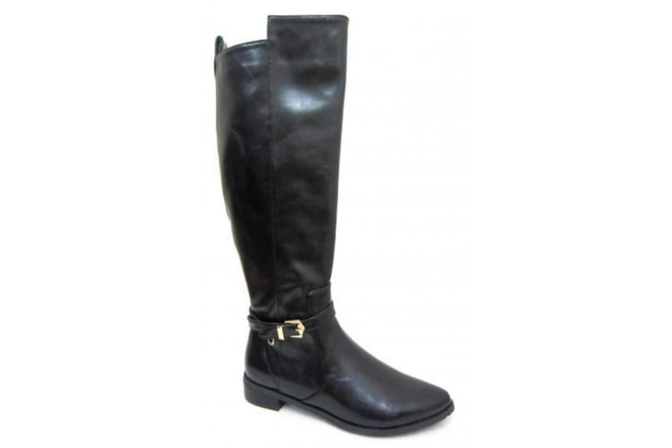 Spot On Womens/Ladies Knee High Winter Boots (Black) (UK Size 5)
