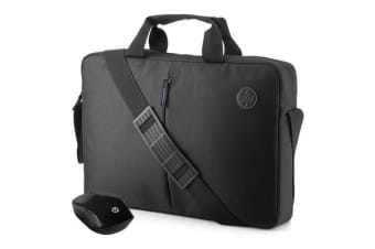 "HP Value Carry Bag with Wireless Mouse for  15.6"" Notebook /Laptop  - Black"