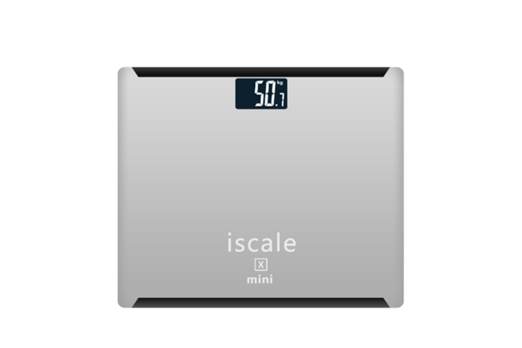 "Rechargeable Digital Body Weight Scale With Large 3. 0"" Lcd Display Auto Technology Silver"