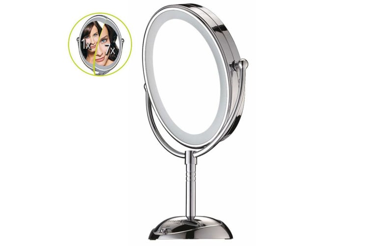 Conair CBE51LEDA Makeup Beauty Mirror Double Sided LED Lighted/Corded Cordless