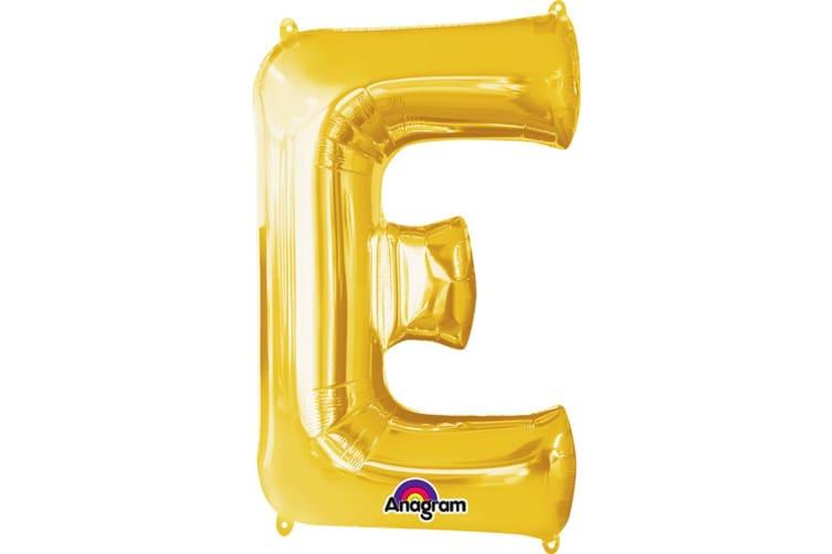 Anagram Mini Shape 16 Inch Gold Number/Letter Balloon (Gold) (E)