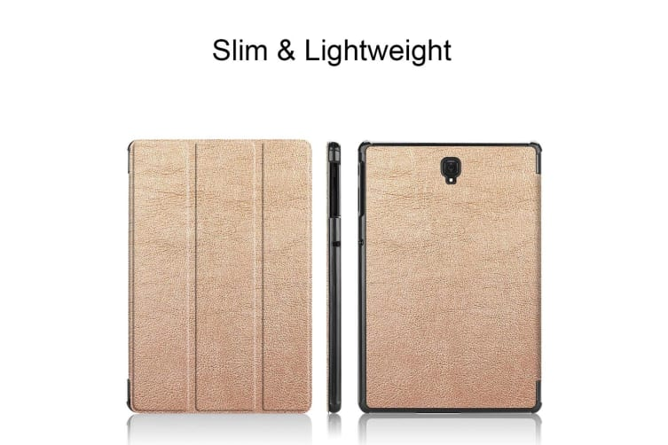 For Samsung Galaxy Tab S4 10.5 RoseGold Case Texture PU Leather Folio Cover