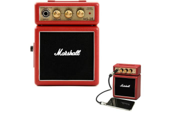 Marshall MS-2R Red Portable Micro Amplifier Amp Speaker for iPhone/iPod/Samsung