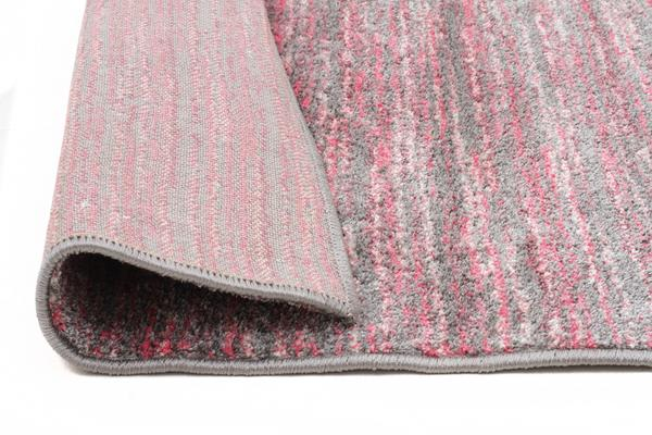 Pandora Contemporary Stripe Rug Pink Grey 330x240cm