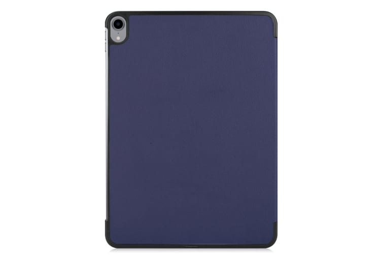 For iPad Pro 11 Inch (2018) Case Dark Blue Karst Texture PU Leather Folio Cover