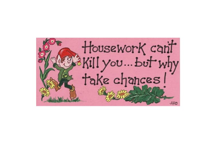 Something Different Housework Can't Kill You Decorative Sign (Multicolour) (One Size)