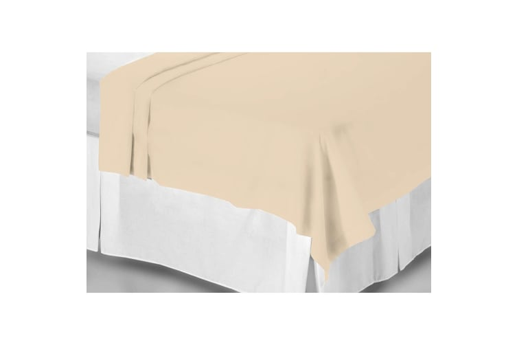 Belledorm 200 Thread Count Egyptian Cotton Flat Sheet (Papyrus) (Single)