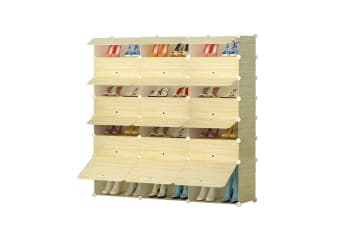 DIY 21 Cube Wardrobe Shoe Rack 42 Pairs Storage Cabinet Cupboard Organiser Toy Shelf