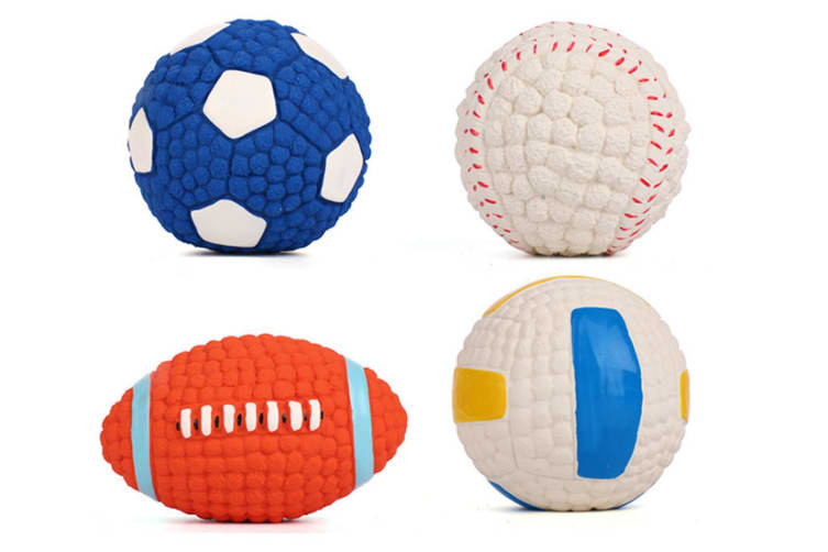 Voice Training Balls For Dog Teeth Cleaning Latex Toy Balls Football