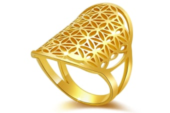 .925 Egyptian Flower Ring-Gold   Size US 7