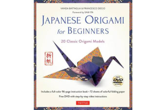 Japanese Origami for Beginners Kit - 20 Classic Origami Models: Kit with 96-page Origami Book, 72 High-Quality Origami Papers and Instructional DVD: Great for Kids and Adults!