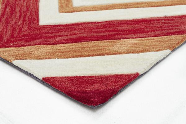 Abrash Chevron Rug Multi Coloured 320x230cm
