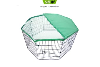 """30"""" 8 Panel Foldable Pet Playpen With Cover"""