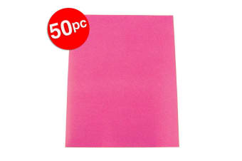 50pc Colourful Days A3 Board 200GSM Warm Art/Craft School Colour Paper Hot Pink