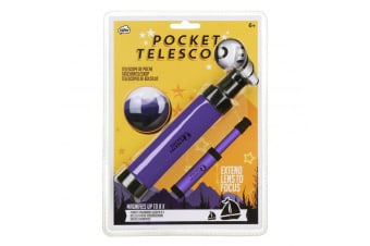 Stargazer Extendable Pocket Telescope   Magnifies Up To 8x!