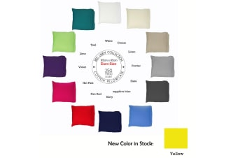 250tc Cotton European Pillowcase Slate