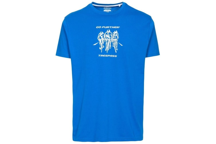 Trespass Mens Chained Short Sleeve T-shirt (Blue) (L)