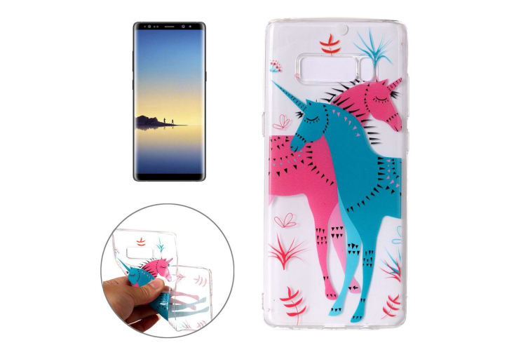 For Samsung Galaxy Note 8 Case Red Blue Unicorn Stylish Protective Cover