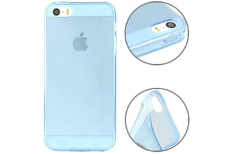 For iPhone SE 5S 5 Case Modern Transparent Grippy Shielding Cover Blue