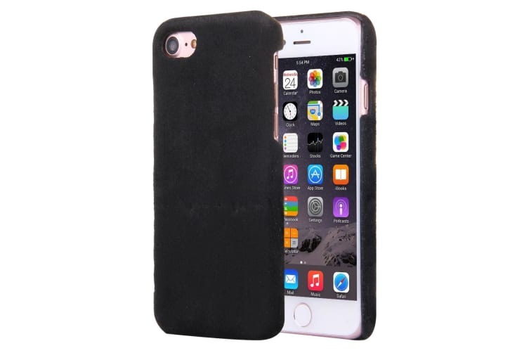 newest aa362 9ab0f For iPhone 8 7 Case Stylish High-Quality Faux Fur Durable Protective Cover  Black