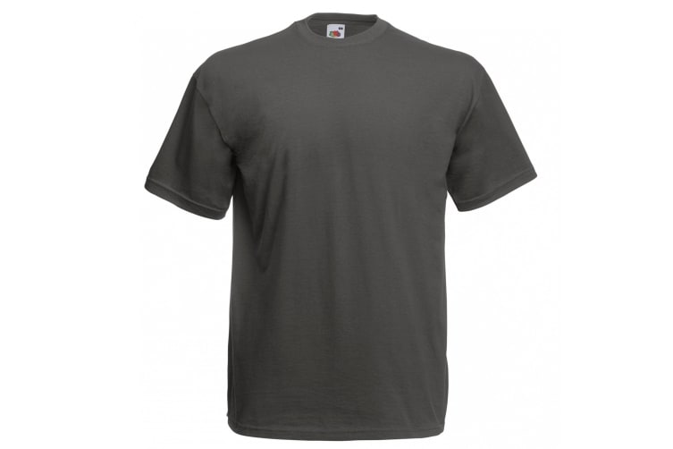 Fruit Of The Loom Mens Valueweight Short Sleeve T-Shirt (Light Graphite) (L)