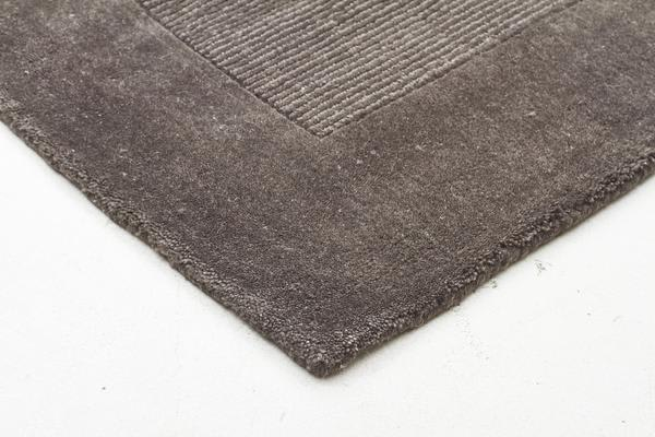 Cut And Loop Pile Runner Rug Grey 400x80cm