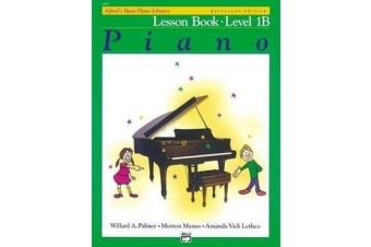 Alfred's Basic Piano Library Lesson Book, Bk 1b - Book & CD