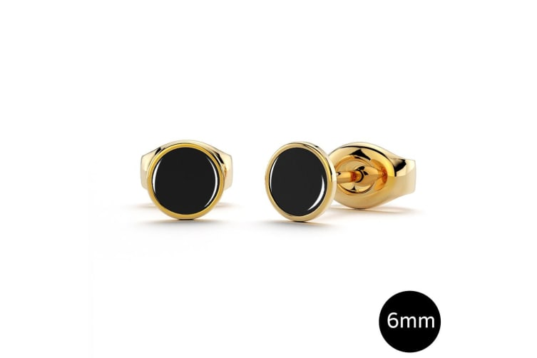 Mitch Stud Earrings 6mm|Gold