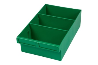 Green 300Mm Large Parts Tray Storage Drawer With Dividers