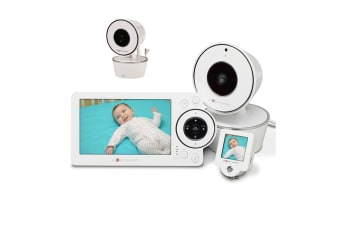 "Project Nursery 5"" HD Video Baby Monitor with Mini Monitor + Additional Camera Unit"