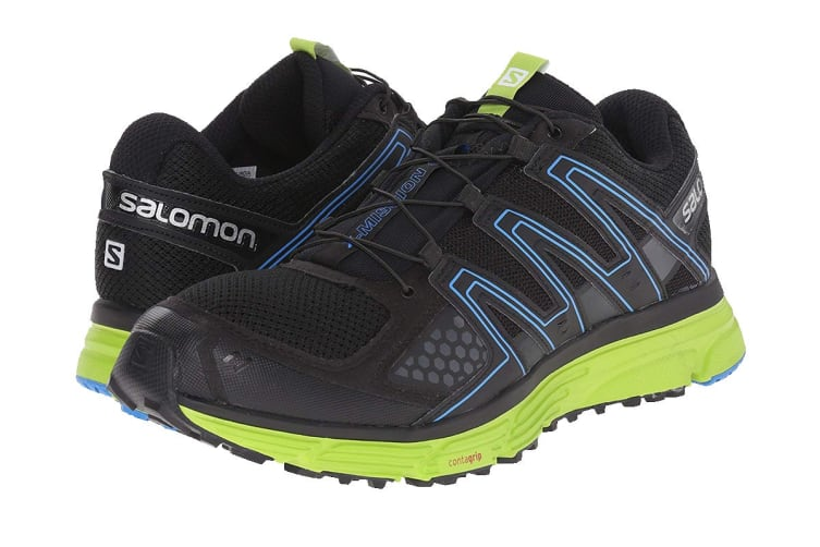 Salomon Men's X-Mission 3 (Black/Green/Blue, Size 8.5)