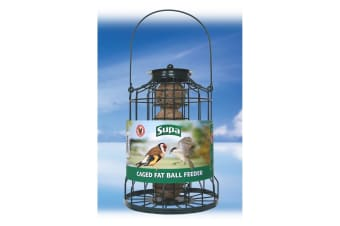 Supa Caged Fat Ball Bird Feeder (Green) (25cm)