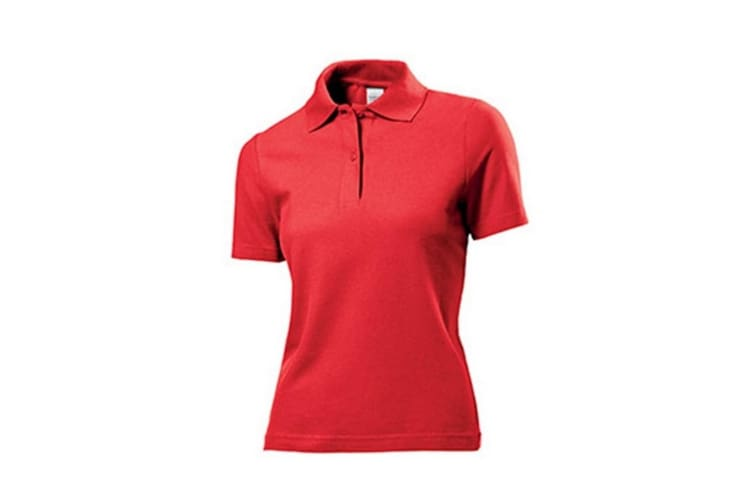 Stedman Womens/Ladies Cotton Polo (Scarlet Red) (XL)