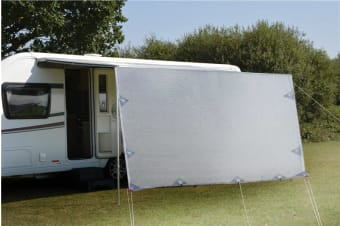 4.9m Caravan Privacy Screen Side Sunscreen Sun Shade for 17' Roll Out Awning