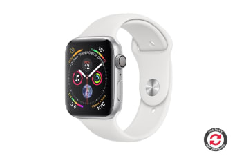 Apple Watch Series 4 Refurbished (Silver, 40mm, White Sport Band, GPS Only) - A Grade
