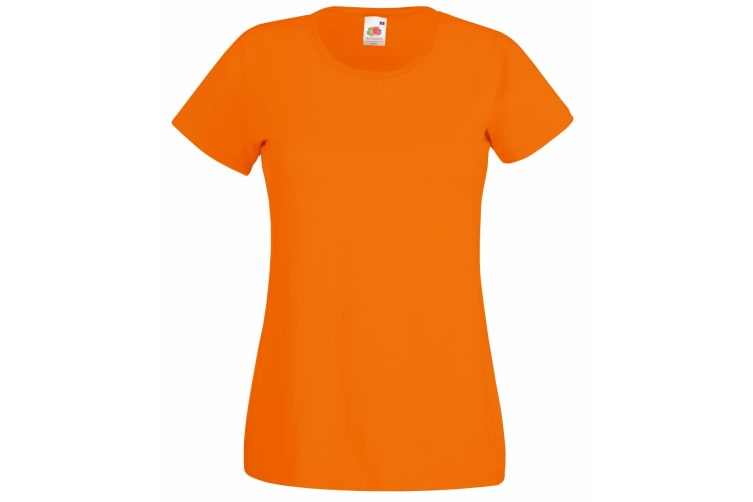 Fruit Of The Loom Ladies/Womens Lady-Fit Valueweight Short Sleeve T-Shirt (Orange) (S)