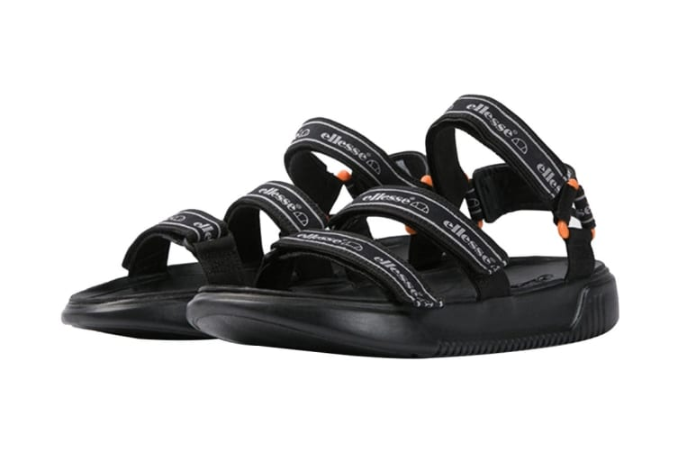 Ellesse Men's Denso Text AM Sandal (Black, Size 7 US)