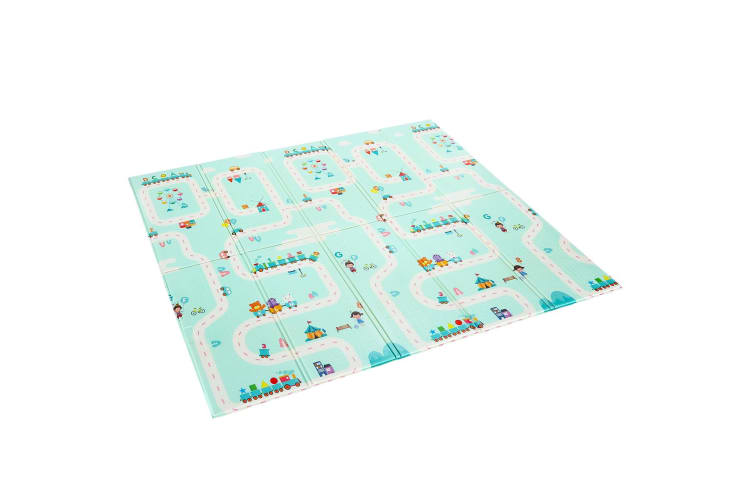 200cmx180cm 10mm Thick Reversible Baby Play Mat Kids Activity Gym