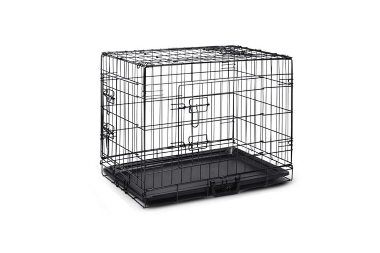 """42"""" Portable Pet Dog Cage Collapsible Metal Crate Kennel"""