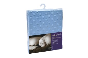 2- Pack Babyrest Minkie Dot Universal Change Mat Cover - Blue (AC5MD/BL)