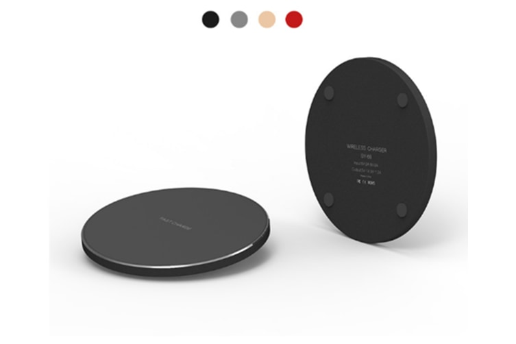 Fast Wireless Charger Charging Pad Usb-C Qi Charge Black