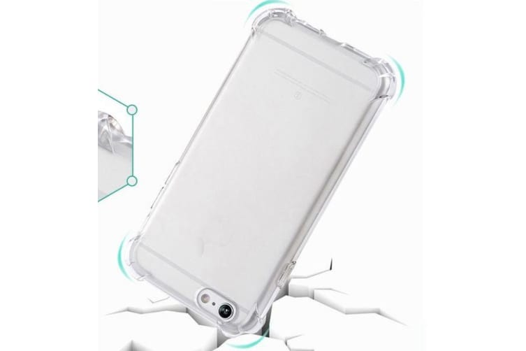 For iPhone 8 PLUS 7 PLUS Case Shockproof Grippy Transparent Protective Cover