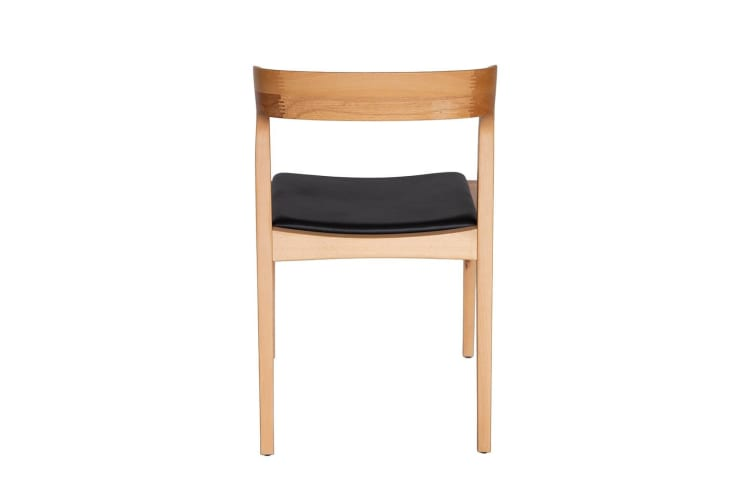 Replica Niels Otto Møller #75 Leather Dining Chair | Natural & Black