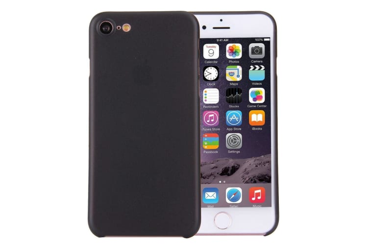 timeless design 74260 99495 For iPhone 8 7 Case Stylish Ultra-thin Translucent Protective Cover Black