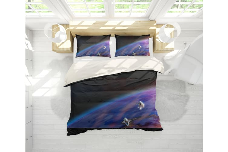 3D Color Starry Sky Quilt Cover Set Bedding Set Pillowcases  20-King