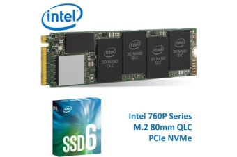 Intel 660P Series M.2 80mm 2TB SSD 3D2 QLC PCIe NVMe 1800R/1800W MB/s 220K/220K IOPS 1.6 Million Hours MTBF Solid State Drive 5yrs Wty