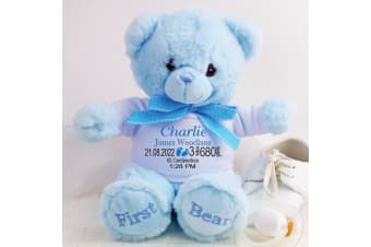 Baby Boy First Teddy Bear with Personalised Shirt