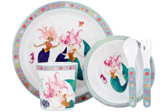 Ashdene Mermaids 5-Piece Kids Dinner Set