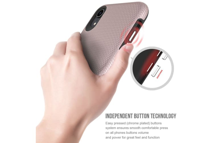 For iPhone XR Case  Armor Rose Gold Shockproof Protective Slim Phone Cover