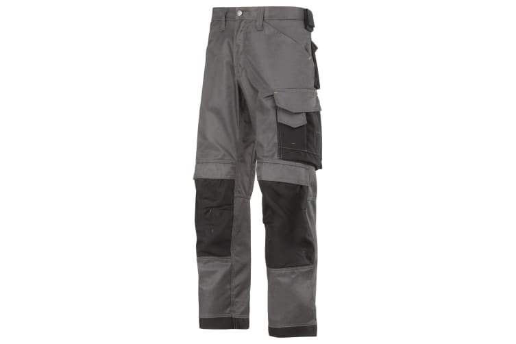Snickers Mens DuraTwill Craftsmen Non Holster Trousers (Muted Black/Black) (33S)